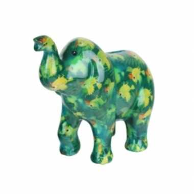 Grote spaarpot olifant groen vogel