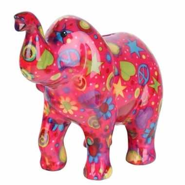 Grote spaarpot olifant roze type