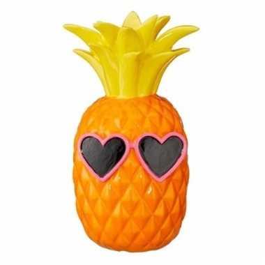Grote spaarpot oranje ananas