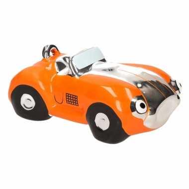 Grote spaarpot oranje sportauto cabriolet