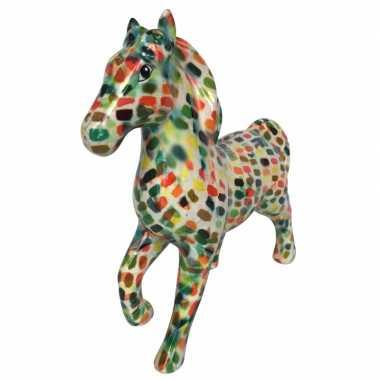 Grote spaarpot paard multicolor