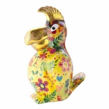 Grote spaarpot papegaai geel type