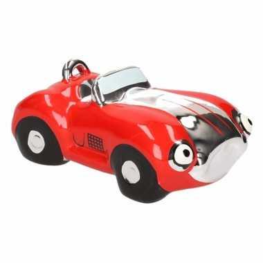 Grote spaarpot rode sportauto cabriolet