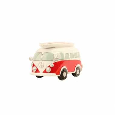 Grote  Spaarpot rode Volkswagen bus