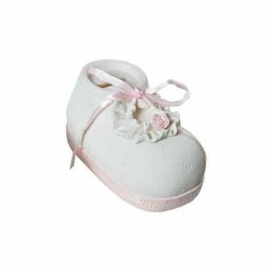 Grote  Spaarpot roze babyschoen