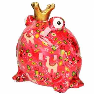 Grote xl spaarpot roze kikker type