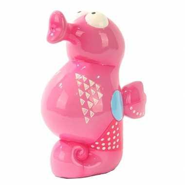 Grote  Spaarpot roze zeepaardje