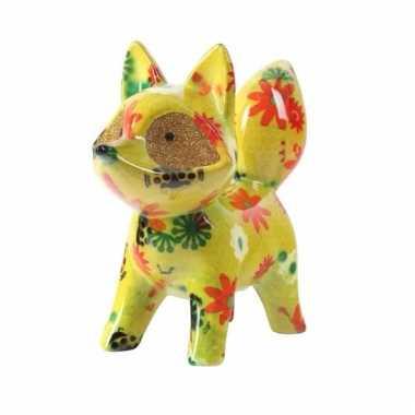 Grote spaarpot vos geel