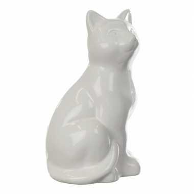Grote spaarpot witte kat