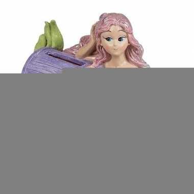 Grote spaarpot zeemeermin paarse schatkist