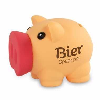 Grote spaarvarken bier spaarpot