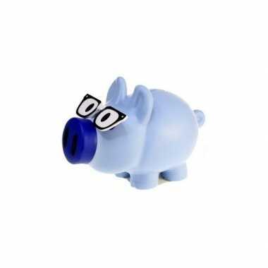 Grote spaarvarken blauw spaarpot