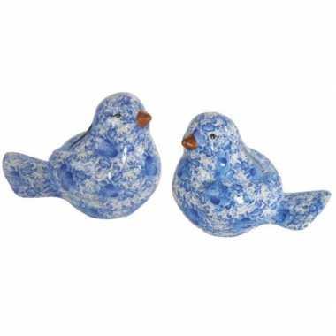 Grote  Vogel spaarpot blauw