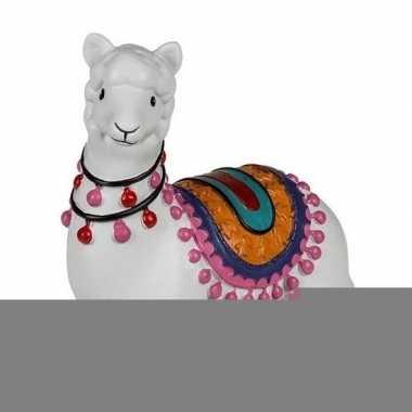 Grote witte liggende alpaca / lama spaarpot