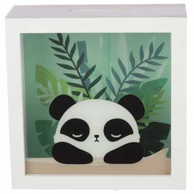 Grote witte raam spaarpot pandabeer/pandaberen