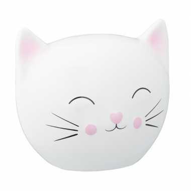 Grote witte spaarpot kattenhoofd
