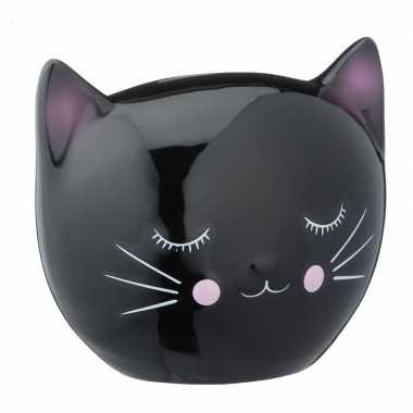 Grote zwarte spaarpot kattenhoofd