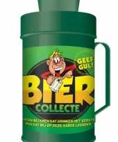 Grote bier collecte bus spaarpot