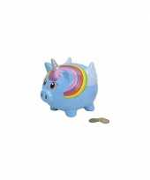 Grote blauwe eenhoorn spaarpot
