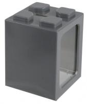 Grote bouwstenen spaarpot grijs