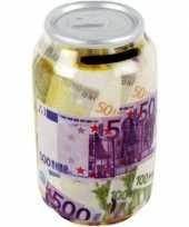 Grote spaarpot blikje bankbiljetten