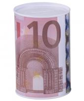 Grote spaarpot euro biljet 10135565