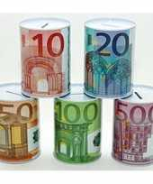 Grote spaarpot euro biljet 10135573