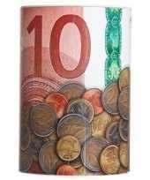 Grote spaarpot euro biljet 10135592