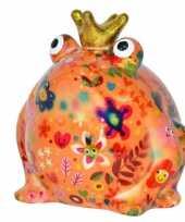 Grote spaarpot kikker kroontje oranje