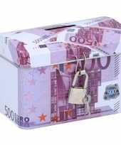 Grote spaarpot kistje euro biljet 10135599