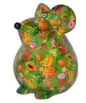 Grote spaarpot muis groen type