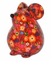 Grote spaarpot muis rood type