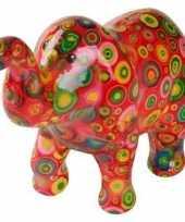 Grote spaarpot olifant rood cirkels
