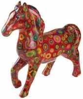 Grote spaarpot paard rood cirkels