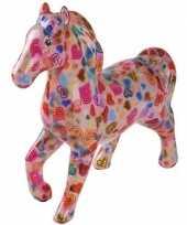 Grote spaarpot paard roze hartjes