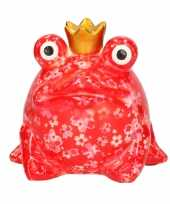 Grote spaarpot rode kikker kroontje