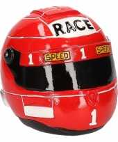 Grote spaarpot rode race helm