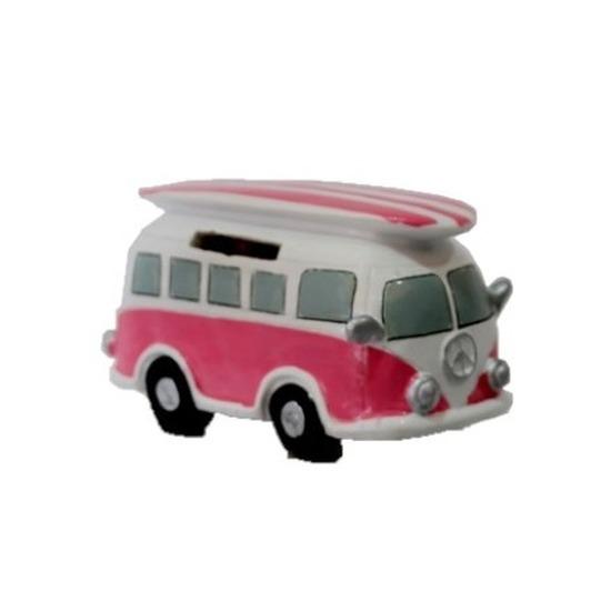 Grote spaarpot roze volkswagen bus