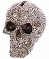 Grote spaarpot schedel bling